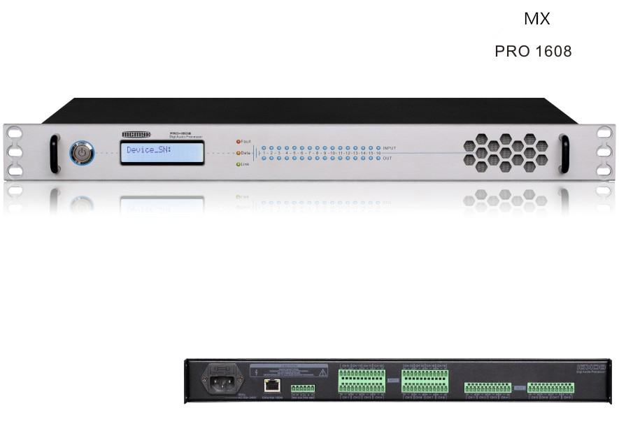 PRO-1608 Professional Digital Audio processor